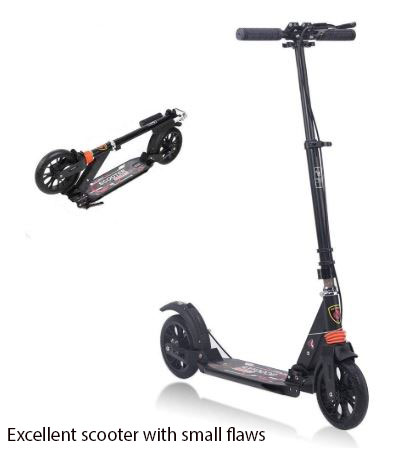 Excellent scooter with small flaws
